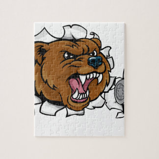Bear Angry Esports Mascot Jigsaw Puzzle