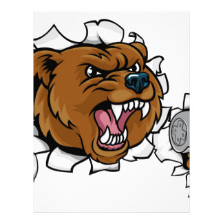 Bear Angry Esports Mascot Letterhead