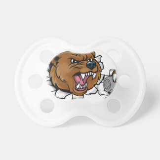 Bear Angry Esports Mascot Pacifier