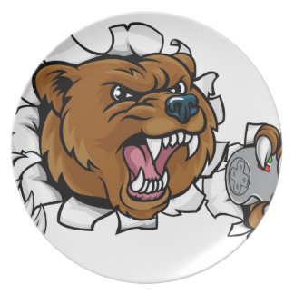 Bear Angry Esports Mascot Plate