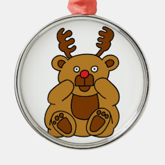 Bear Antlers Metal Ornament