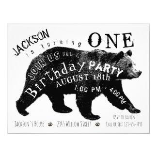 Bear Any Number Birthday Party Invitations