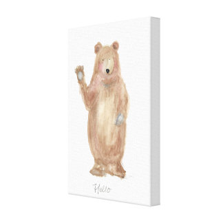 bear art, bear painting , wall art, nursery canvas print