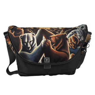 Bear Art Commuter Bag Dancing Bears Messenger Bag