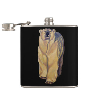 Bear Art Flask Custom Polar Bear Drink Flask