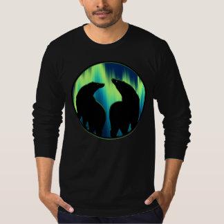Bear Art Shirts Northern Lights Men's Bear Shirt