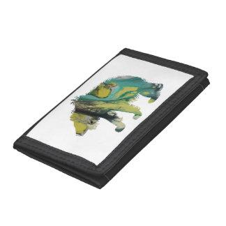 Bear art tri-fold wallet