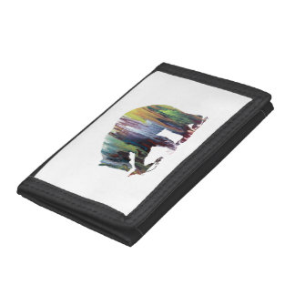 Bear Art Tri-fold Wallets