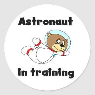 Bear Astronaut in Training Tshirts and Gifts Round Sticker