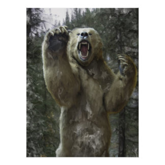 BEAR ATTACK on the TRAIL Poster