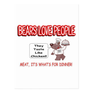 Bear Aware Humor Postcard