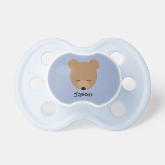 Bear Baby Pacifier with Name