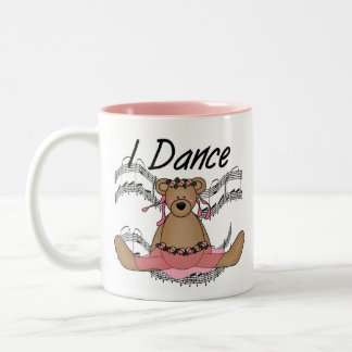 Bear Ballet Dancer Two-Tone Coffee Mug