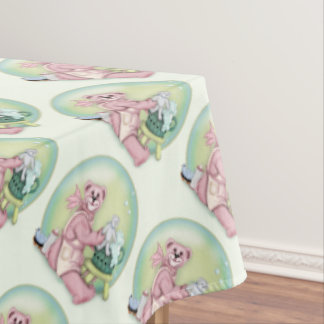 "BEAR BATH FAMILY Tablecloth  60""x104"""