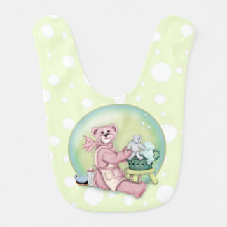 BEAR BATH LOVE Baby Bib