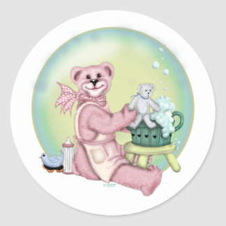 BEAR BATH LOVE CARTOON AutoCollant Sticker