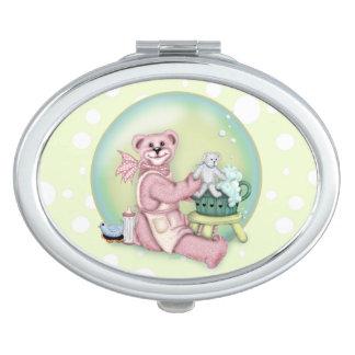 BEAR BATH LOVE compact mirror Oval