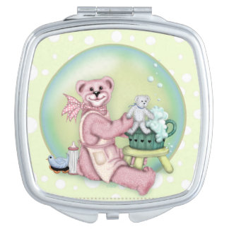 BEAR BATH LOVE compact mirror Square