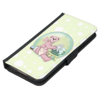 BEAR BATH LOVE Galaxy S5 Wallet Case
