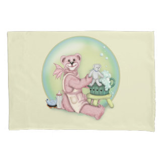 BEAR BATH SINGLE Pillowcase