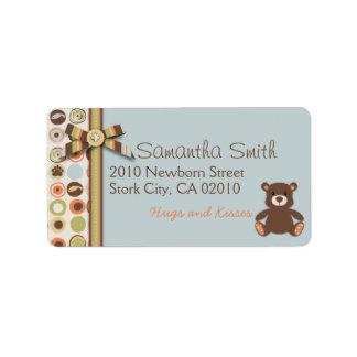 Bear Bear Boy Address Label