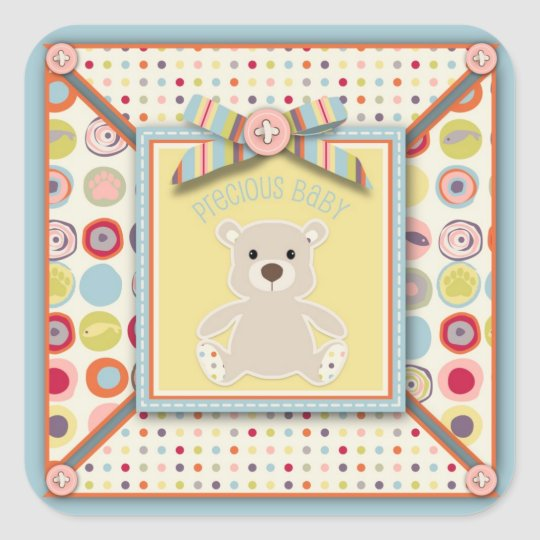 Bear Bear Square Sticker