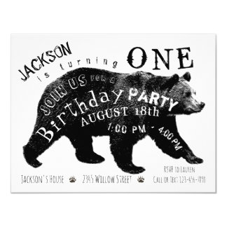 Bear Birthday Party Invitations