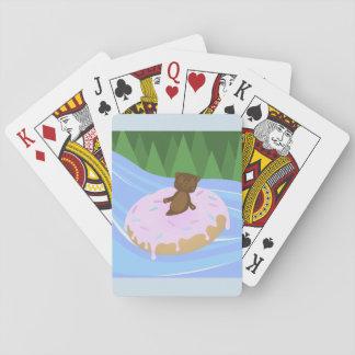 Bear Bliss Doughnut River Floatie Playing Cards