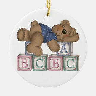 Bear Blocks Christmas Ornament