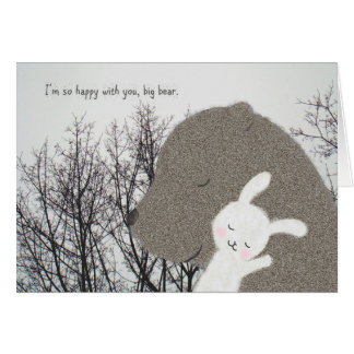 Bear & Bunny Greeting Card Cute Valentine's day
