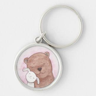 Bear & Bunny Love Key Chain Romantic Gift for Her