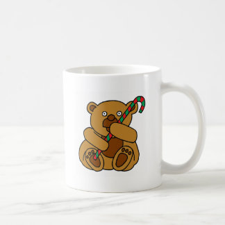 Bear Candy Cane Coffee Mug