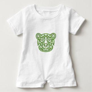 Bear Celtic Knot Baby Romper