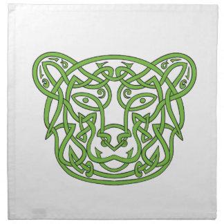 Bear Celtic Knot Napkin