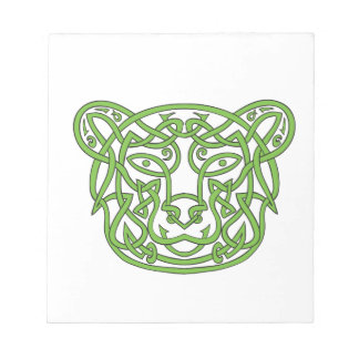 Bear Celtic Knot Notepad