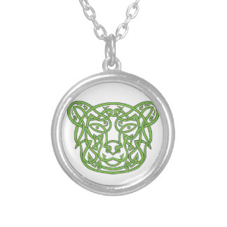 Bear Celtic Knot Silver Plated Necklace
