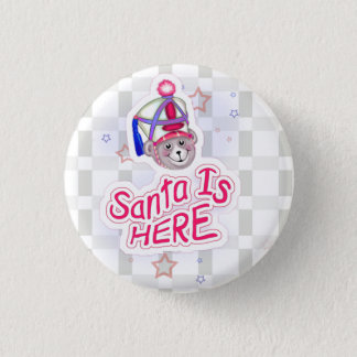 BEAR CHRISTMAS 7 SMALL BUTTON 1¼ Inch