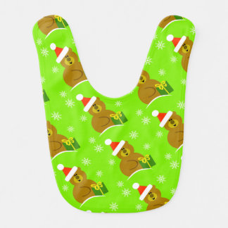 Bear Christmas Baby Bib