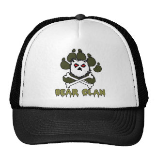 BEAR CLAN TRUCKER HAT BLK/WHITE