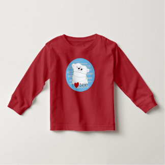 Bear Couple Polar Cute Love Winter Hug Cartoon Toddler T-shirt