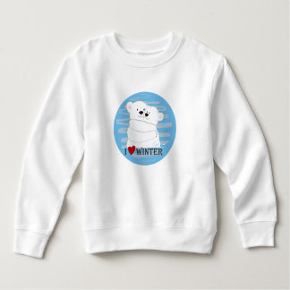 Bear Couple Polar Cute Love Winter Hug Snow Blue Sweatshirt
