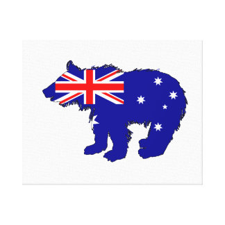"Bear Cub ""Australia"" Canvas Print"