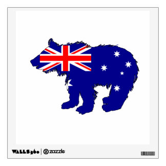 "Bear Cub ""Australia"" Wall Sticker"