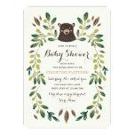"Bear Cub Baby Shower 5"" X 7"" Invitation Card"