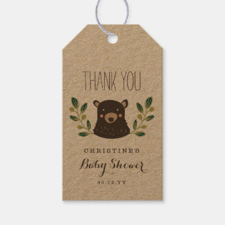 Bear Cub Baby Shower Gift Tags