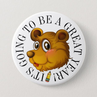 Bear Cub Great Year Button