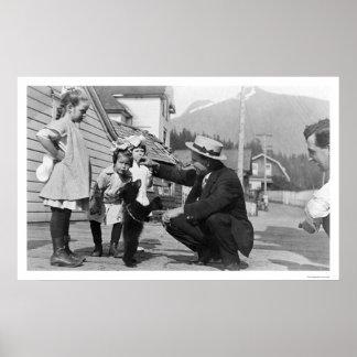 Bear Cub Showoff Alaska 1915 Poster