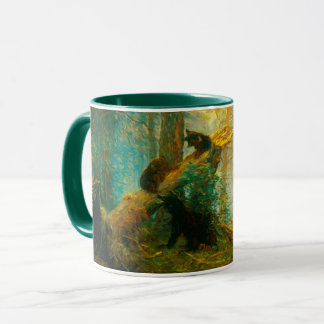 Bear Cubs Ivan Shishkin Vintage Art Mug