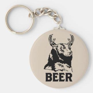 Bear + Deer = Beer Basic Round Button Keychain