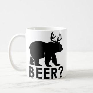 Bear + Deer = Beer?  Funny coffee mug